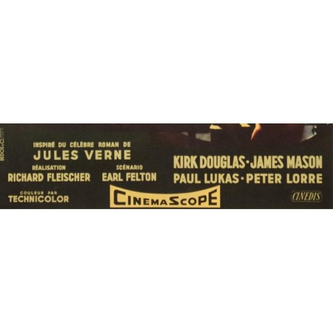 Affiche ancienne de cinéma - Jean Mascii - 1954 - 20000 Lieues Sous Les Mers Jules Verne France - 77 par 57 cm - 4