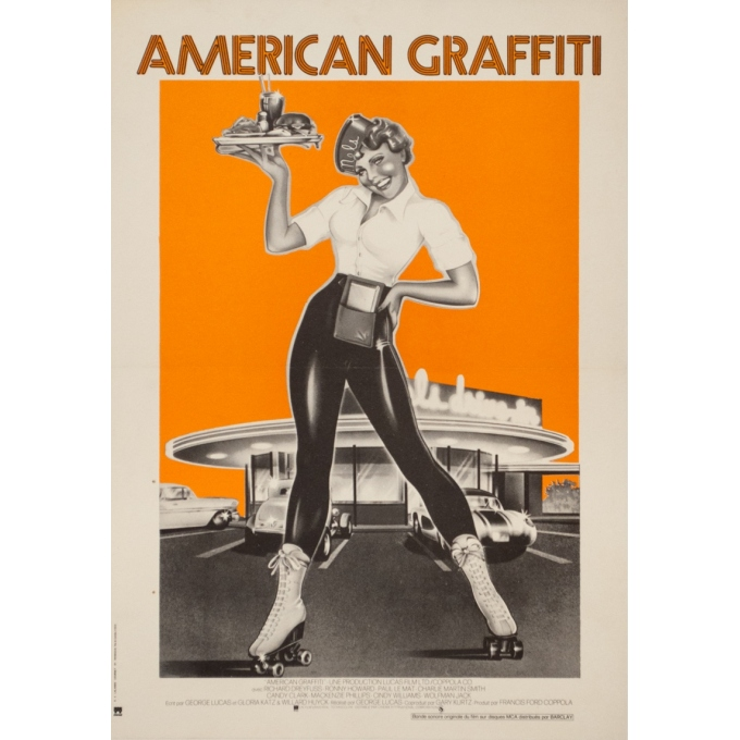 Original vintage movie poster - 1973 - American Graffiti Small Size - 26 by 15.8 inches