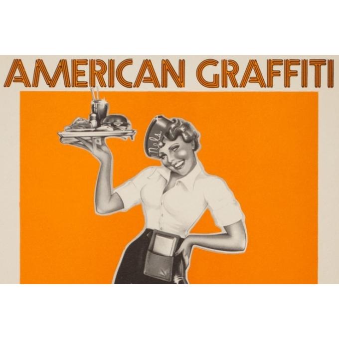 Affiche ancienne de cinéma - 1973 - American Graffiti Petit Format - 66 par 40 cm - 2