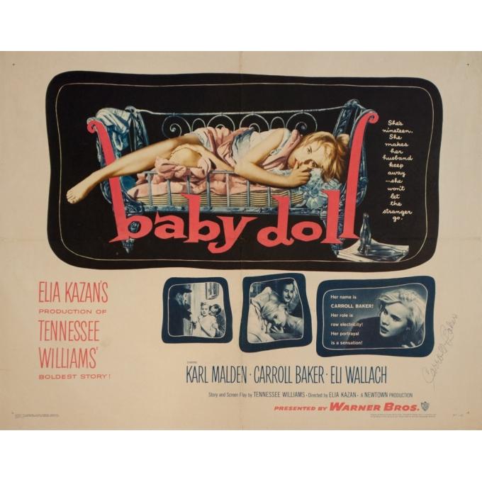 Affiche ancienne de cinéma - Baby Doll - 70 par 55.5 cm