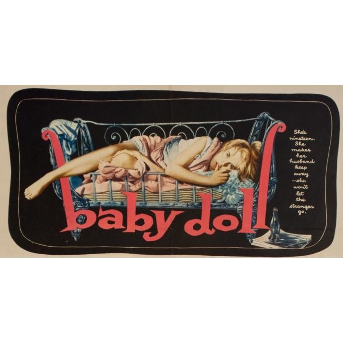 Affiche ancienne de cinéma - Baby Doll - 70 par 55.5 cm - 2