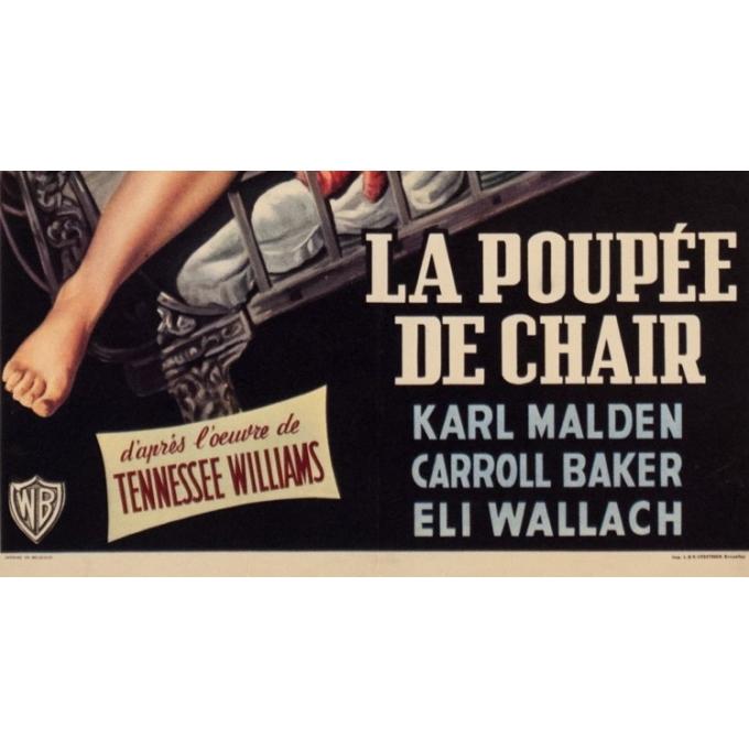 Affiche ancienne de cinéma - 1956 - Baby Doll La Poupee De Chair - 53 par 35.5 cm - 3