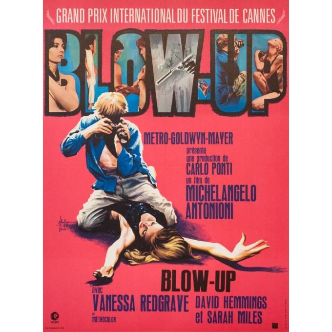 Affiche ancienne de cinéma - Georges Kerfyser - 1967 - Blow Up - 79 par 58 cm