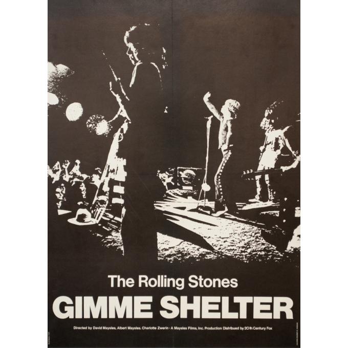 Affiche ancienne de cinéma - 1970 - Concert The Rolling Stones - 80 par 58 cm