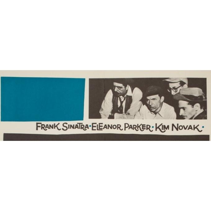 Affiche ancienne de cinéma - Saul Bass - Circa 1960 - L'Homme À La Main D'Or Allemagne - 84 par 60 cm - 2