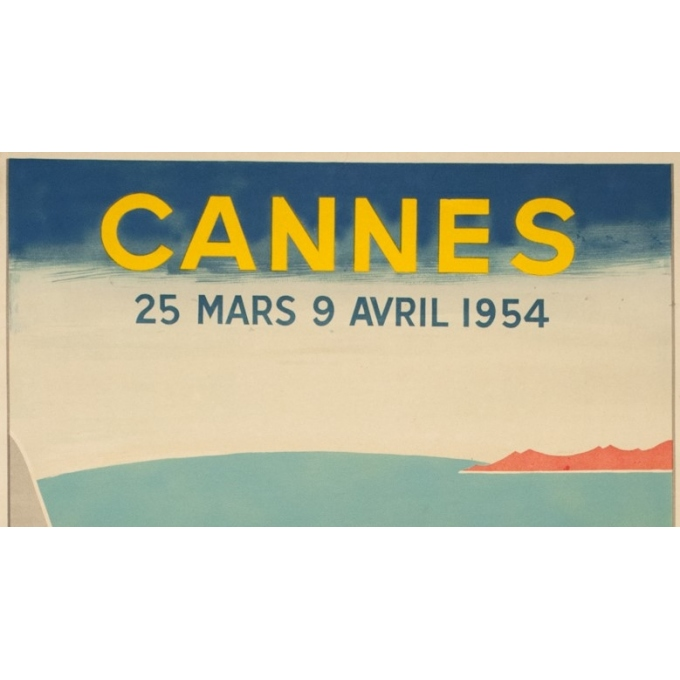 Vintage poster - Piva - 1954 - Festival De Cannes - 38.2 by 24 inches - 2