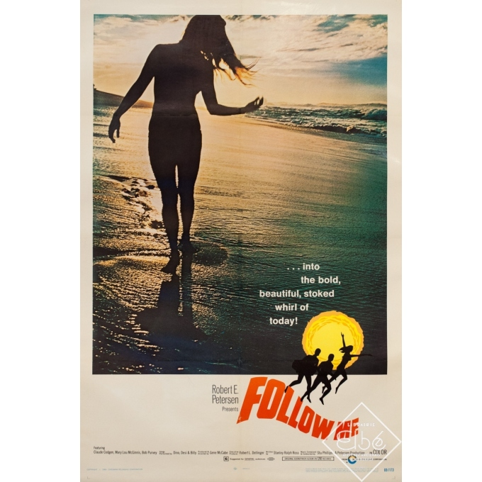 Affiche ancienne de cinéma - One sheet - 1969 - Follow Me Surf One Sheet Usa - 102 par 67 cm