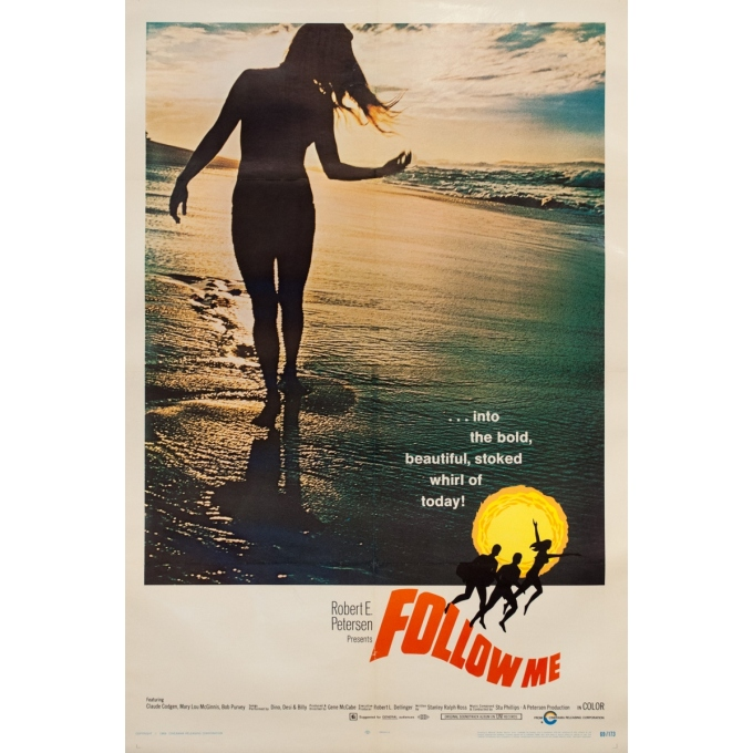 Original vintage movie poster - One sheet - 1969 - Follow Me Surf One Sheet Usa - 40.2 by 26.4 inches