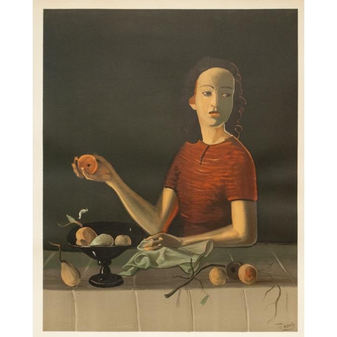 Affiche ancienne d'exposition - Derain - 1954 - Exposition Musée National D'Art Moderne- 74 par 47.5 cm - 2