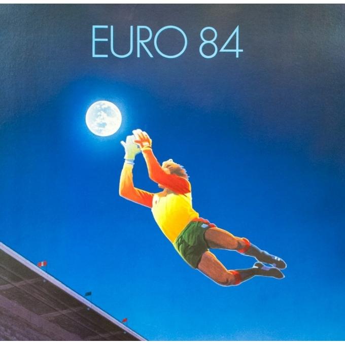 Affiche ancienne de sport - Michel Dubré - 1984 - Euro 84 Nantes - 85 par 60.5 cm - 2