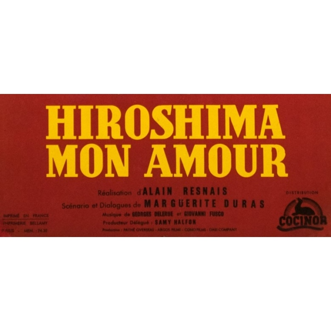 Original vintage movie poster - cbz - 1959 - Hiroshima Mon Amour - 23.6 by 15.4 inches - 3