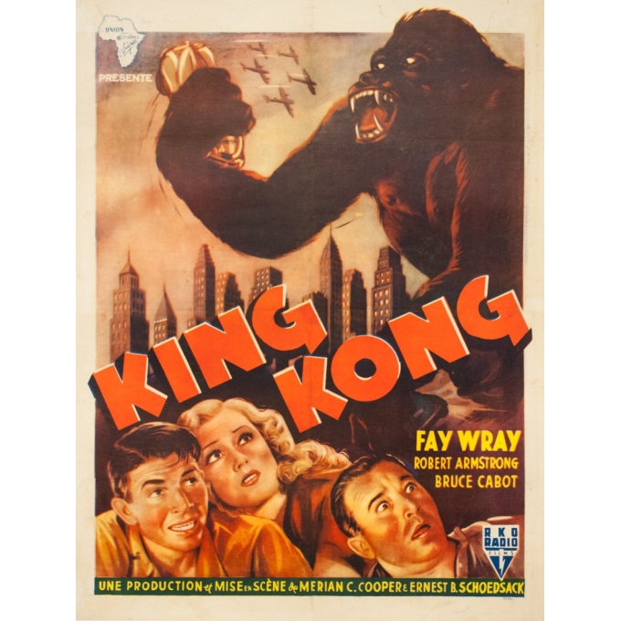 Original vintage movie poster - 1950 - King Kong Afrique Du Nord - 36.2 by 27.2 inches