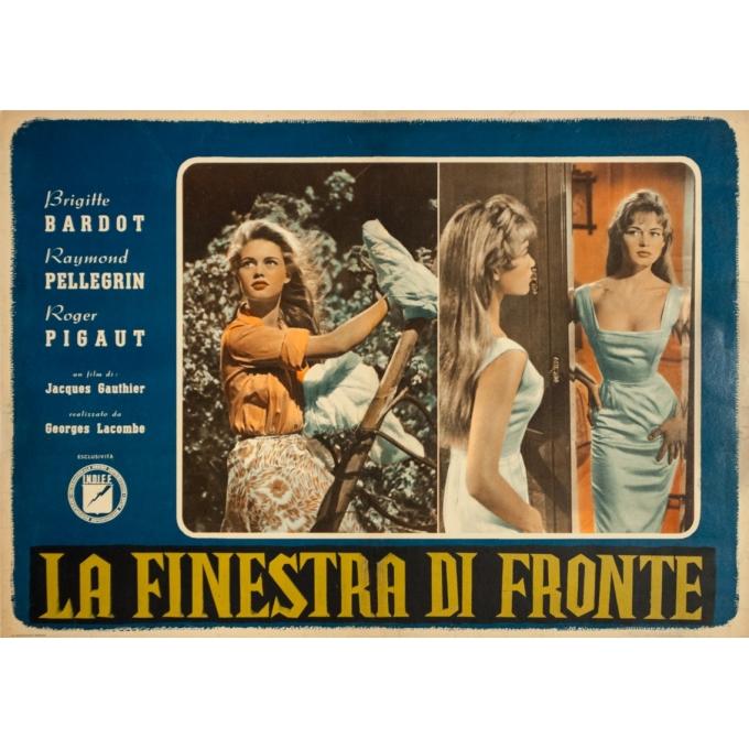 Original vintage movie poster - La Finestra Di Fronte Bardot Italien - 27 by 19.3 inches