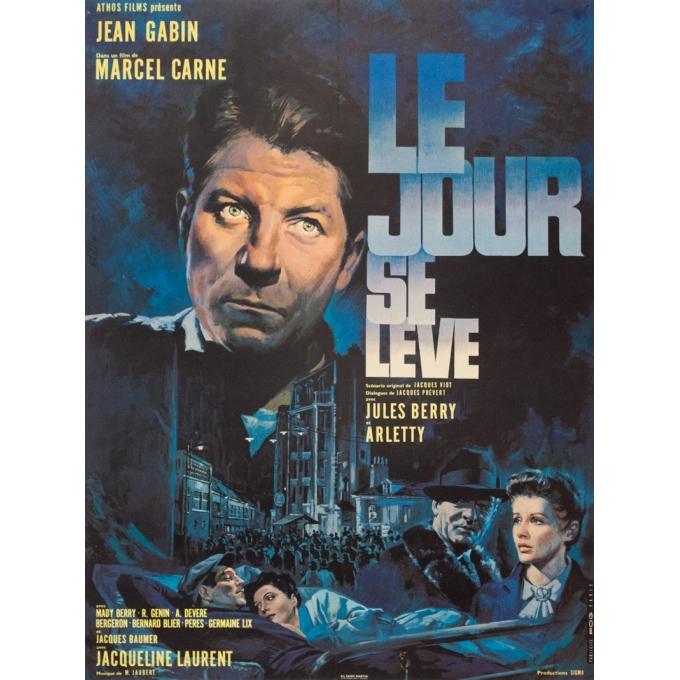 Original vintage movie poster - FOG PARIS - 1939 - Le Jour Se Leve Jean Gabin - 30.3 by 22.8 inches