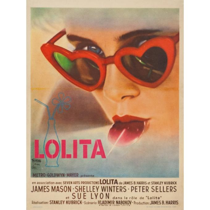 Original vintage movie poster - 1962 - Lolita Belgium - 18.9 by 14.2 inches