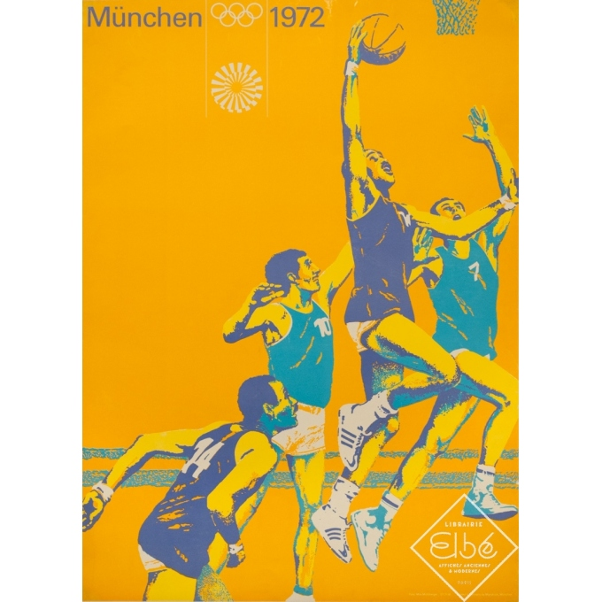Vintage poster - photo de Max Mülberger - 1972 - München Jeux Olympiques 1972 - 32.7 by 23.6 inches