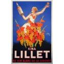 Affiche originale Kina Lillet au vin blanc de la Gironde. Elbé Paris.