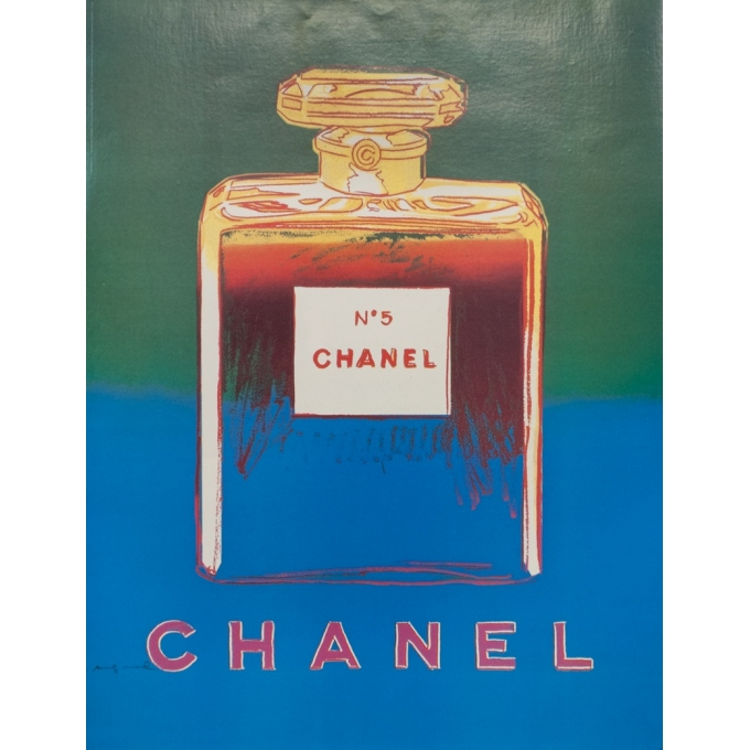 Vintage advertising poster - Andy Warhol - 1997 - Chanel N°5 Vert Bleu - 28.7 by 22 inches