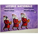 Original french vintage poster National lottery signed by Savignac. Elbé Paris.