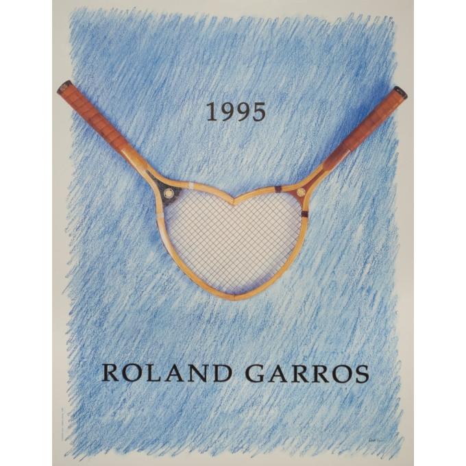 Vintage poster - Donald Lepski - 1995 - Roland Garros 1995 - 29.7 by 23.2 inches