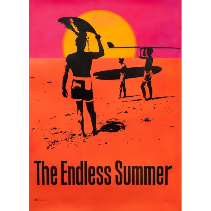 Original vintage movie poster - John Van Hamersveld - 1966 - The Endless Summer - 39.8 by 29.5 inches