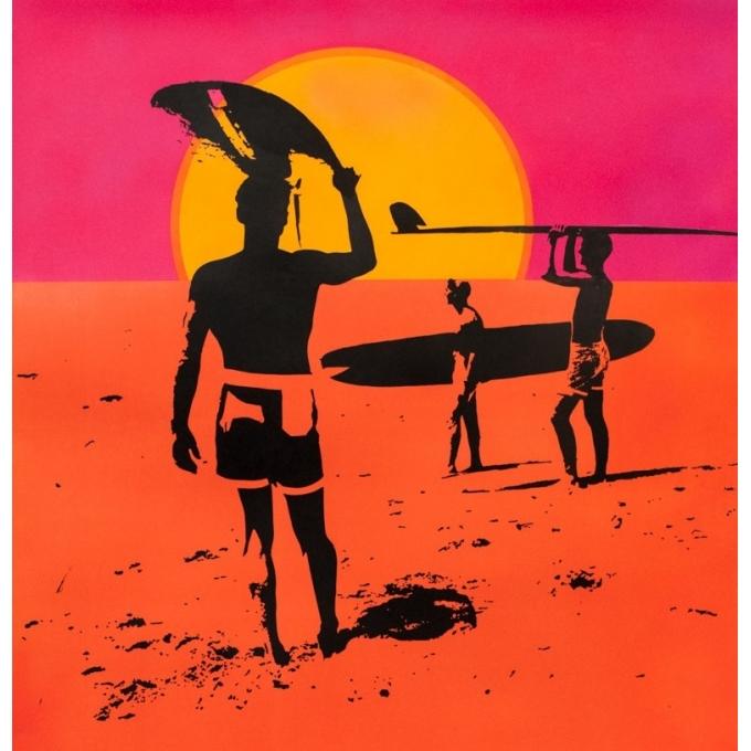 Original vintage movie poster - John Van Hamersveld - 1966 - The Endless Summer - 39.8 by 29.5 inches - 2