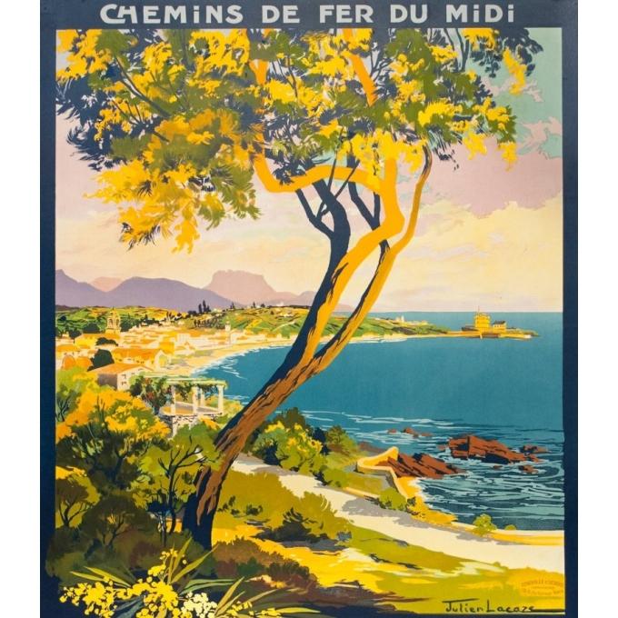 Affiche ancienne de voyage - Julien Lacaze - 1930 - Saint Jean De Luz Ciboure Côte Basque - 107 par 75.5 cm - 2