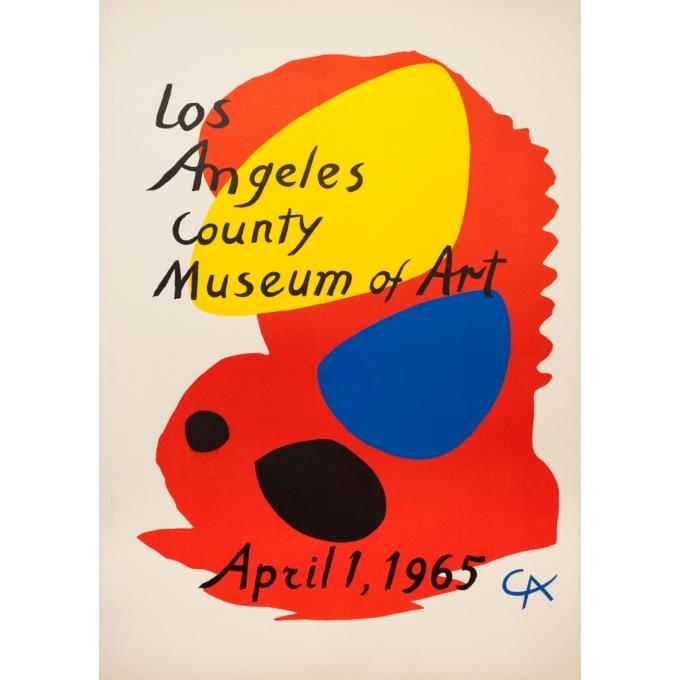 Affiche ancienne d'exposition - Calder - 1965 - Los Angeles County Museum Of Art - 95 par 67 cm
