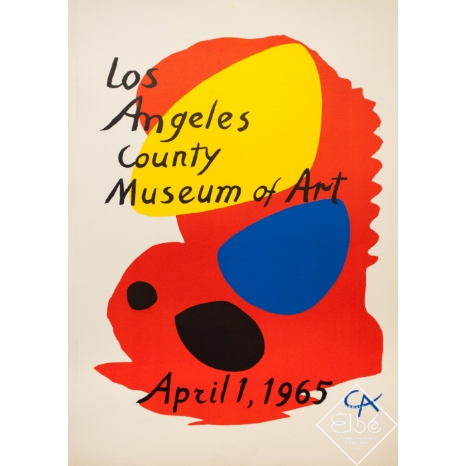 Vintage exhibition poster - Calder - 1965 - Los Angeles County Museum Of Art - 37.4 by 26.4 inches