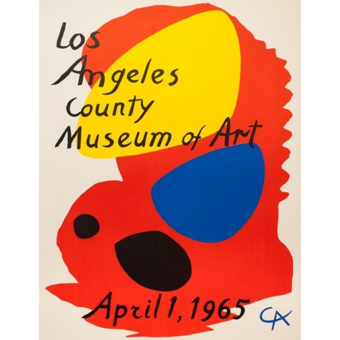Affiche ancienne d'exposition - Calder - 1965 - Los Angeles County Museum Of Art - 95 par 67 cm - 2