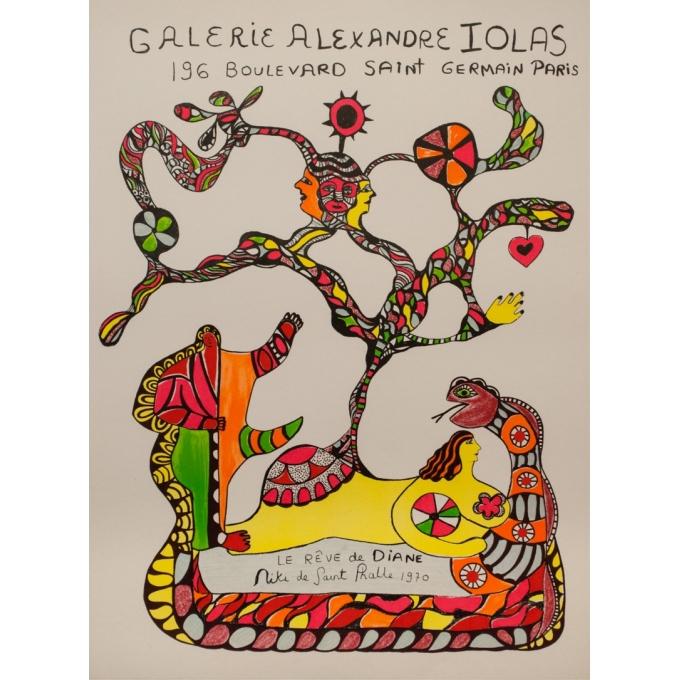 Vintage exhibition poster - Niki de Saint Phalle - 1970 - Expositon Galerie Alexandre Iolas - 32.7 by 24.4 inches