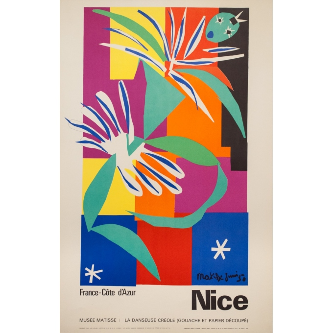 Vintage travel poster - Henri Matisse - 1950 - Nice - 39 by 25 inches