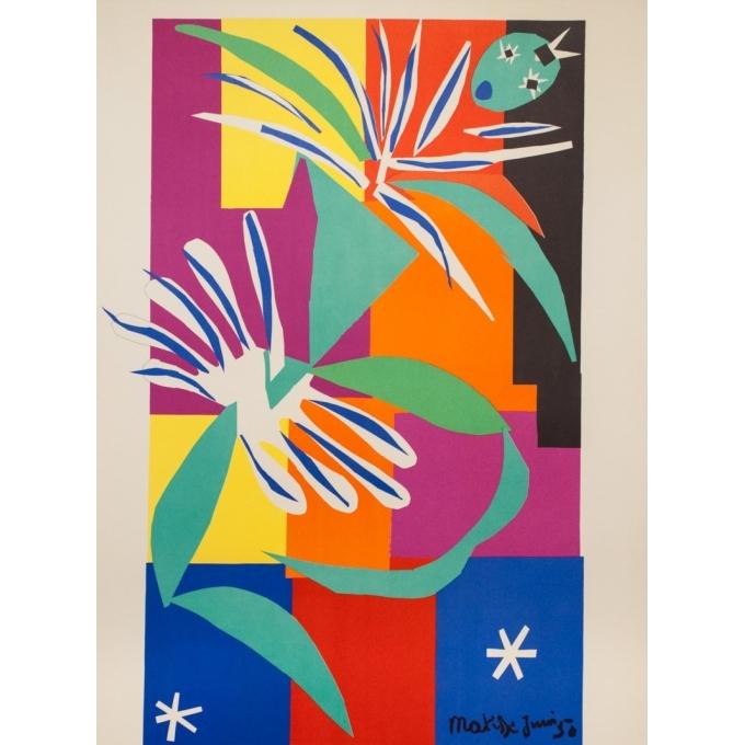 Affiche ancienne de voyage - Henri Matisse - 1950 - Nice - 99 par 63.5 cm - 2