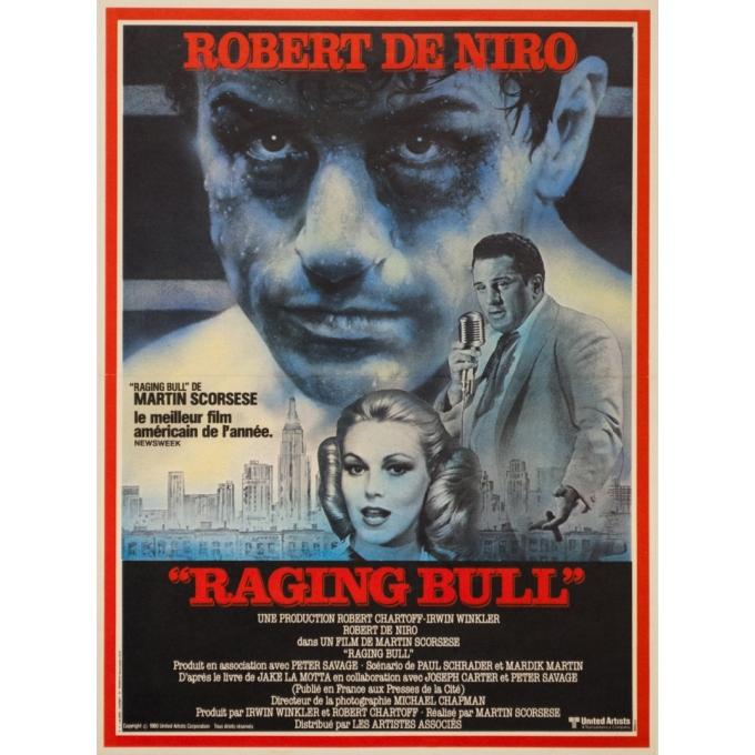 Original vintage movie poster - 1980 - Raging Bull Robert De Niro Martin Scorsese, modèle B - 21.3 by 15.9 inches