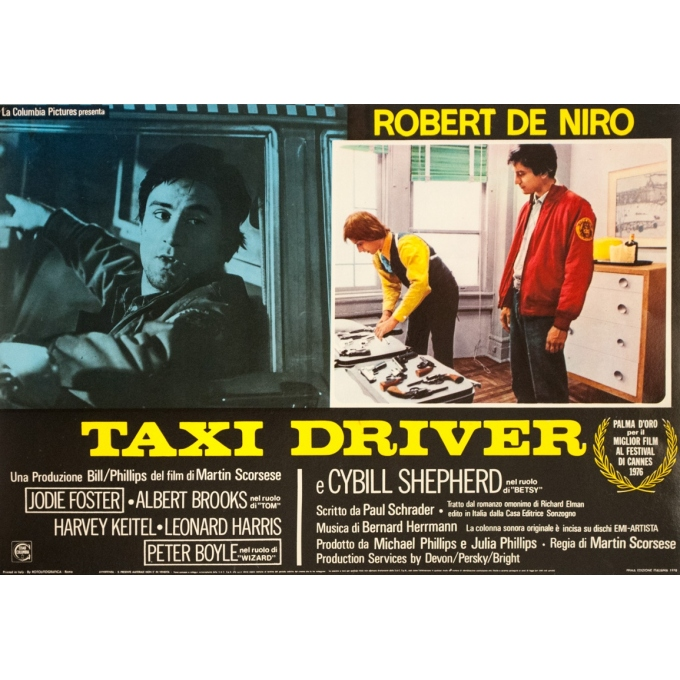 Original vintage movie poster - anonyme - 1976 - Film Taxi Driver Robert De Niro Italie - 25.8 by 18.1 inches