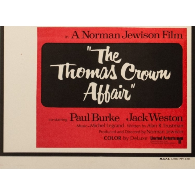 Original vintage movie poster - 1967 - The Thomas Crown Affair Australia - 29.9 by 13.2 inches - 4