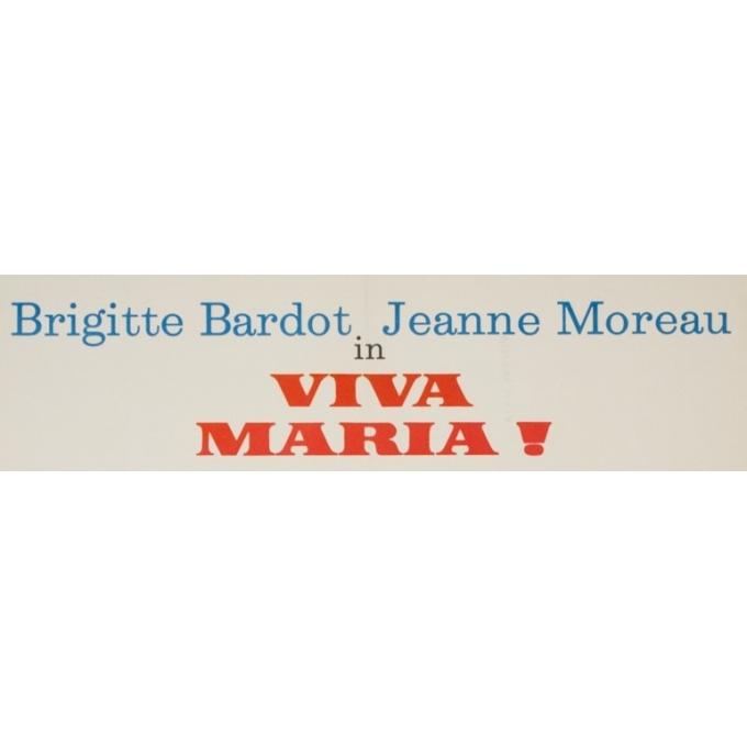 Original vintage movie poster - 1966 - Viva Maria Bardot Moreau Germany- 23.6 by 33.1 inches - 2