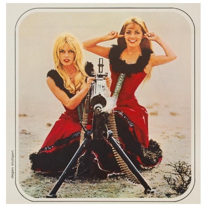 Original vintage movie poster - 1966 - Viva Maria Bardot Moreau Germany- 23.6 by 33.1 inches - 3