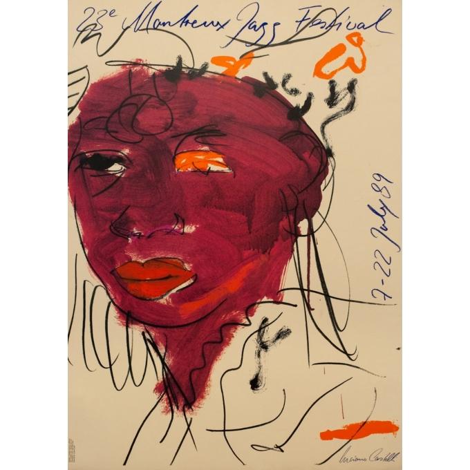 Vintage advertising poster - Luciano Castell - 1989 - 23eme Festival De Jazz De Montreux - 24 by 37.4 inches