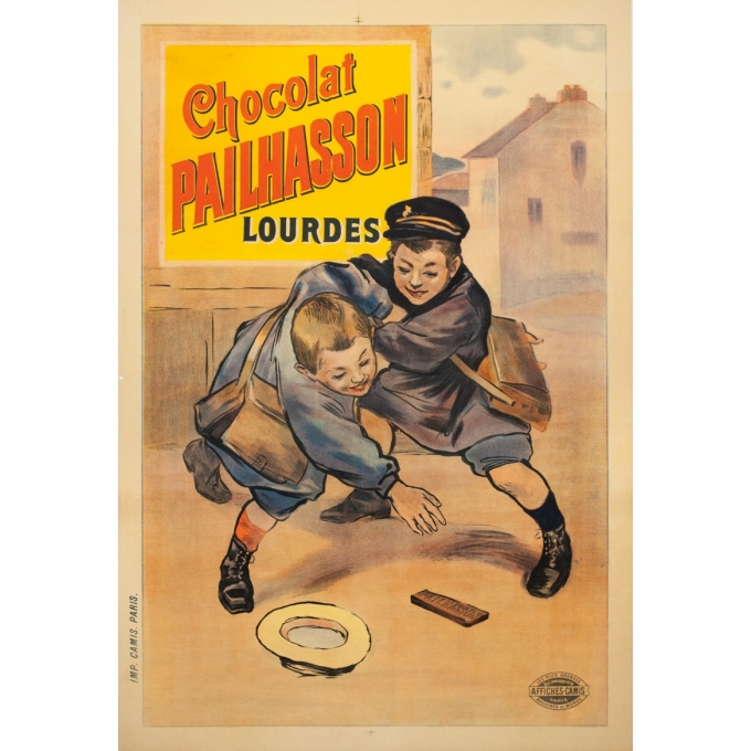 Vintage advertising poster - 1920 - Chocolat Pailhasson - 44.5 by 30.7 inches