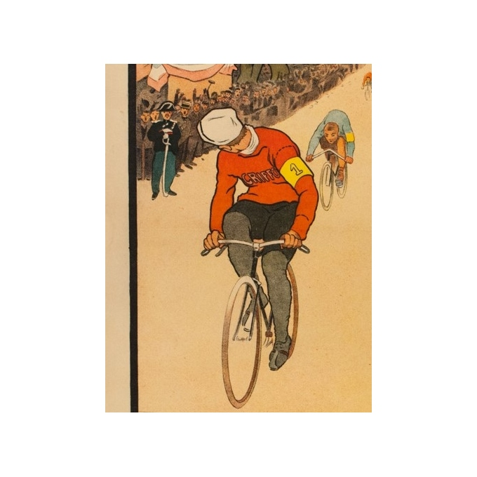 Vintage advertising poster - THOR - 1910 - Griffon Cycles Velo - 42.1 by 29.9 inches - 2