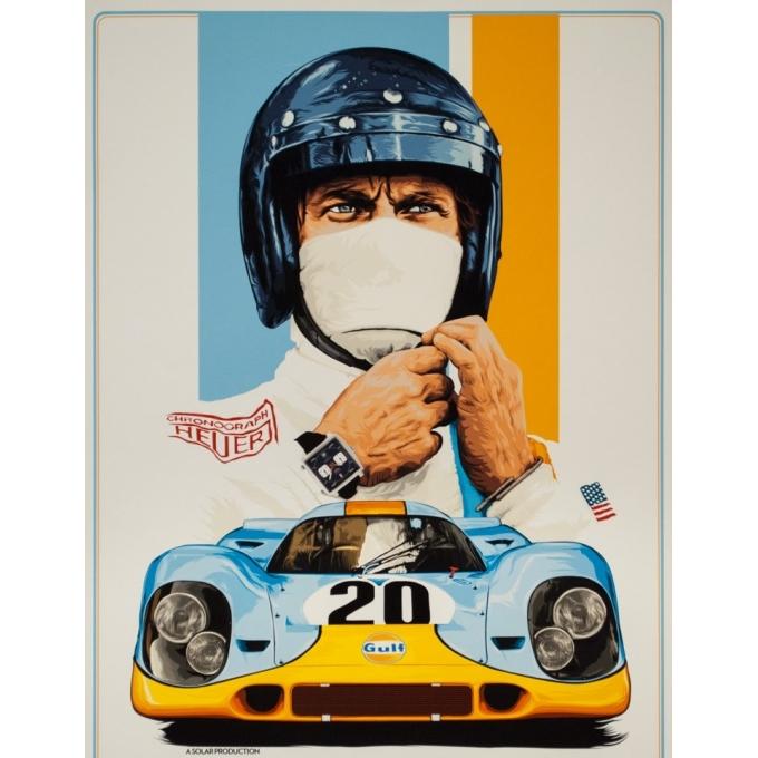 Affiche sérigraphiée originale - Le mans Contemporain Porsche Tagheuer Steve Mc Queen - 91 par 61.5 cm - 2