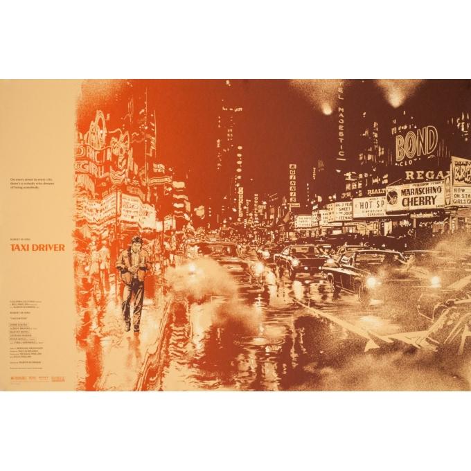 Affiche sérigraphiée originale - Martin Ansin - 2013 - Taxi Driver N°83 - 91 par 61 cm