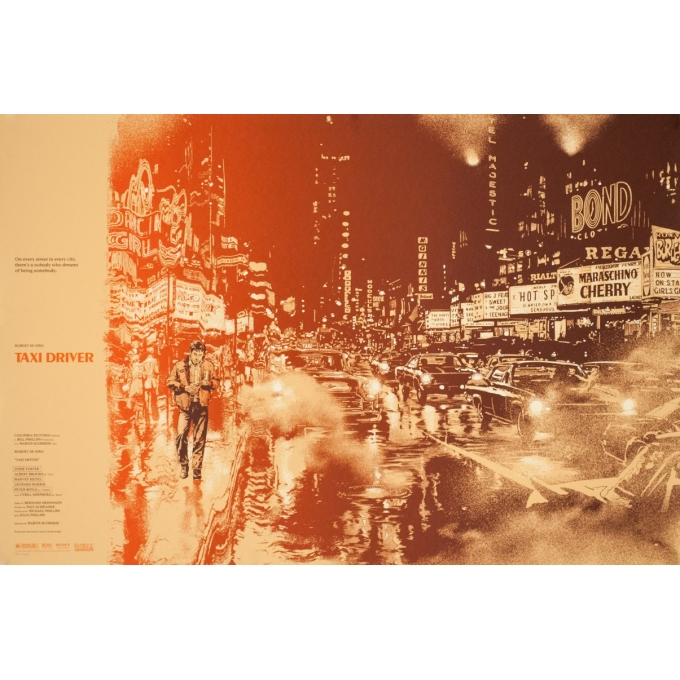Silkscreen poster - Martin Ansin - 2013 - Taxi Driver N°83 - 35.8 by 24 inches
