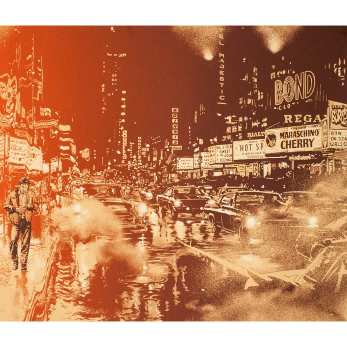 Silkscreen poster - Martin Ansin - 2013 - Taxi Driver N°83 - 35.8 by 24 inches - 2