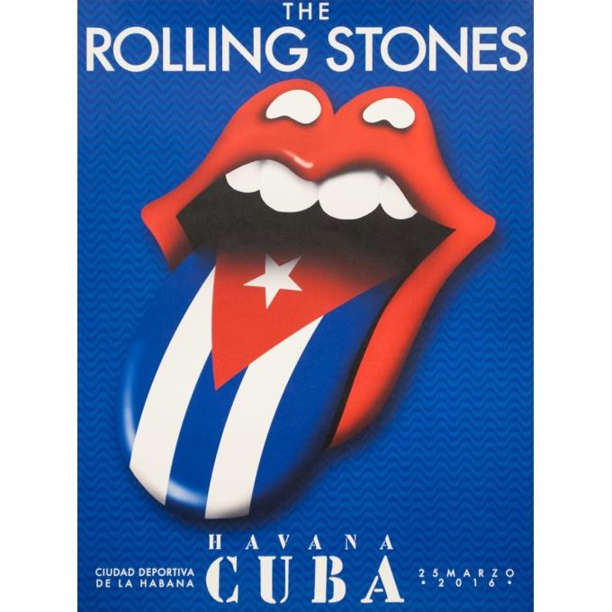 Affiche sérigraphiée originale - 2016 - The Rolling Stones Havana Cuba La Havane 2016 - 61 par 46 cm