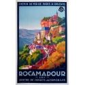 Affiche de France : Rocamadour. Elbé Paris.