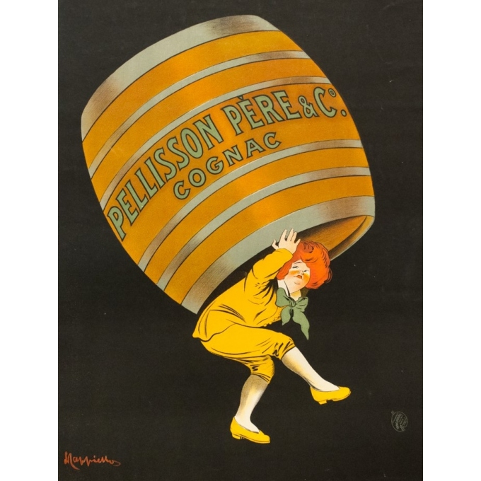 Affiche ancienne de publicité - Leonetto Cappiello - 1907 - Cognac Pellisson - 118 par 78.5 cm - 2