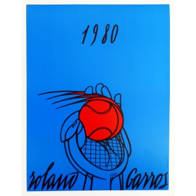Original poster of Roland Garros 1980 by Adami