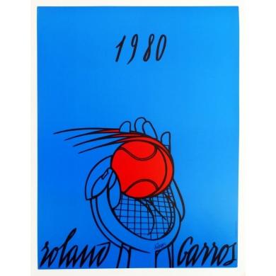 Affiche de Roland Garros 1980 Adami